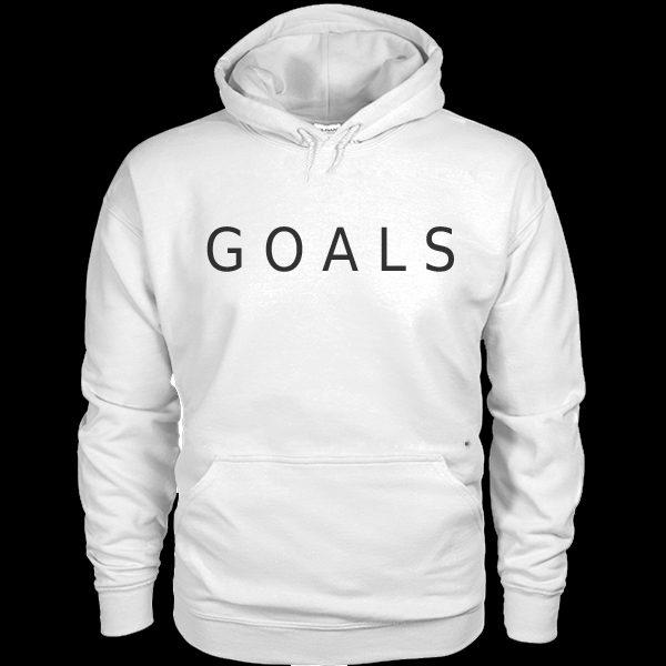 Goals Hoodie White