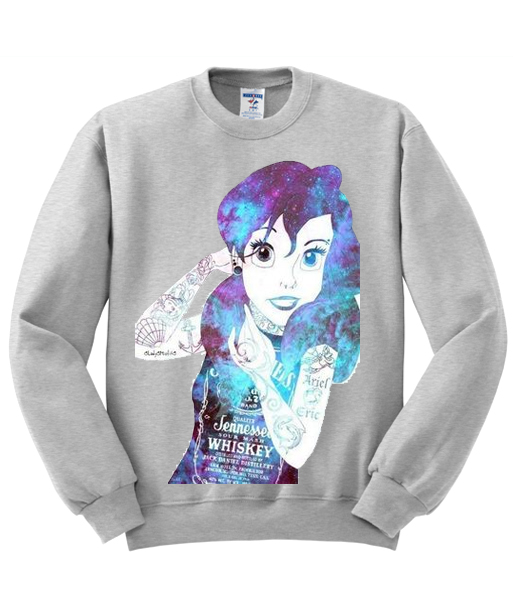 Ariel Little Mermaid Galaxy Unisex Sweatshirt