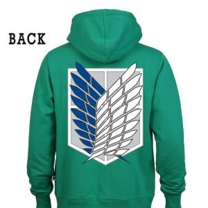 Attack On Titans Logo Hoodie Green