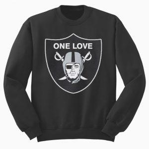 One Love Oakland Raiders Sweatshirt Black