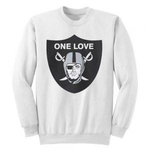 One Love Oakland Raiders Sweatshirt White
