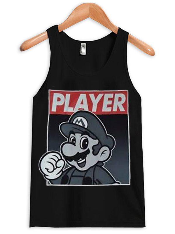 Super Mario Player Unisex Adult Tanktop