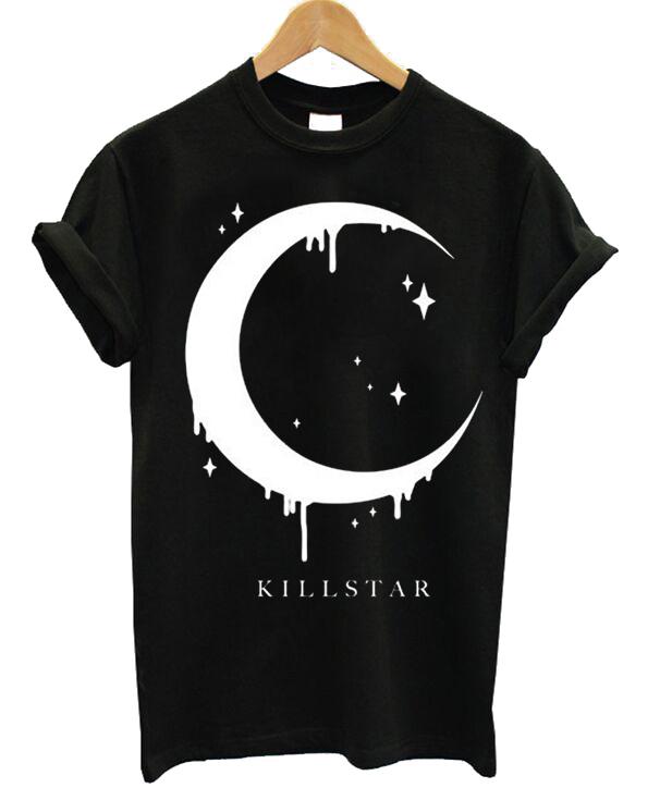 kill star moon tshirt stylecotton