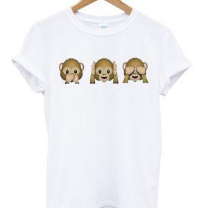 Three Wish Monkeys Emoji T-shirt