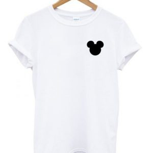 Silhouette Mickey Head T-shirt