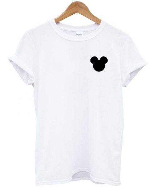 Silhouette Mickey Head T-shirt