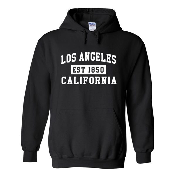Los Angeles California Est-1850 Hoodie