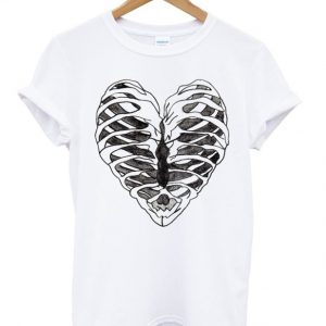 Rib Cage Heart Graphic T-shirt