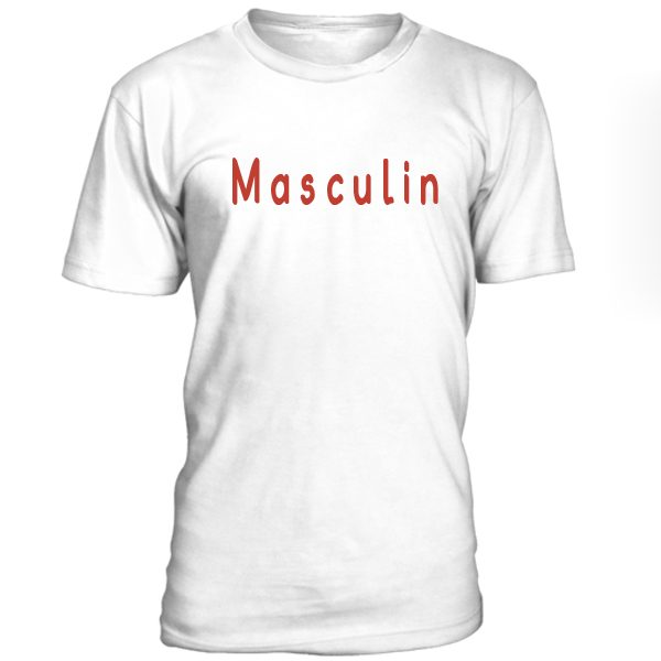 Masculin Font T-shirt