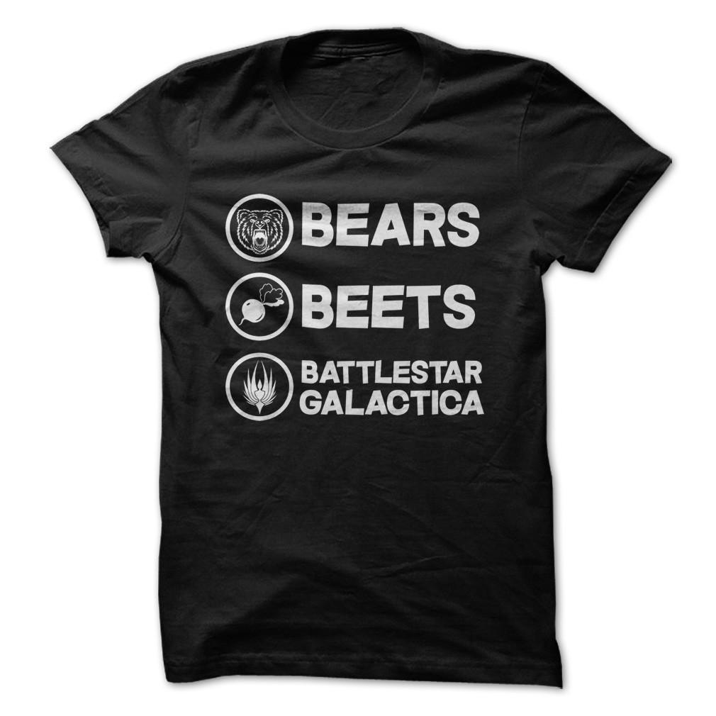 3f0d28fe3c0 Bears Beets Battlestar Galactica T-shirt - StyleCotton