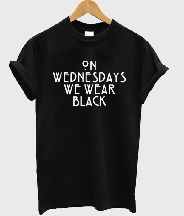 On Wednesday We Wear Black T-shirt - StyleCotton
