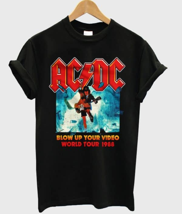 ACDC Blow Up Your Video World Tour 1988 Band T-shirt