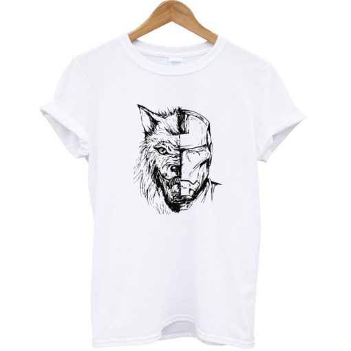 Stark Wolf Iron Man T-shirt