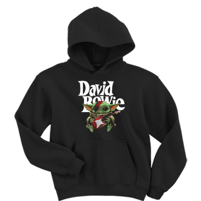 David Bowie Baby Yoda Hoodie