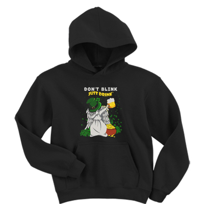 St Patricks Day Don't Blink Just Drink Doctor Brew Hoodie
