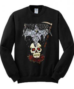 Yeezus Death Skull Sweatshirt